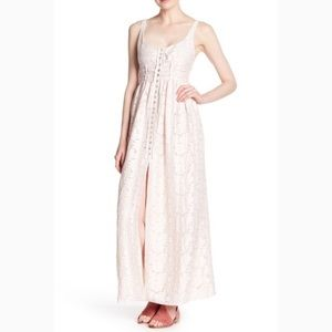 Free People Fresh As a Daisy Long Light Pink Maxi